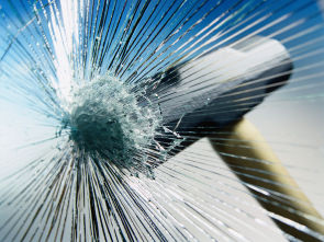 impact: hammer on glass