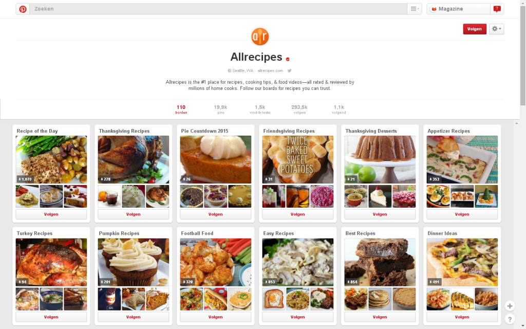 Allrecipes Pinterest