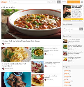 Allrecipes website