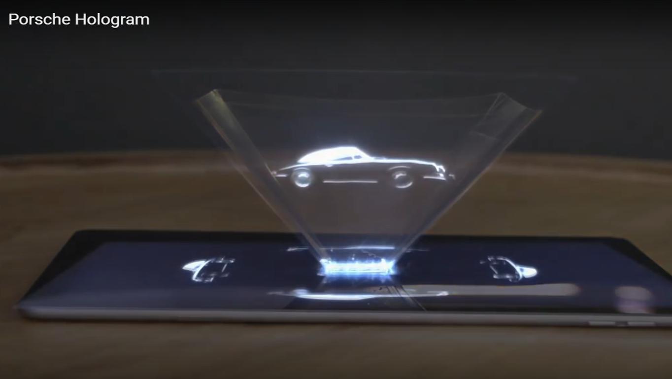 Porsche hologram ad