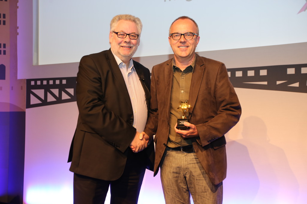 Geert Van Boxem (Sanoma) receives Gold Award