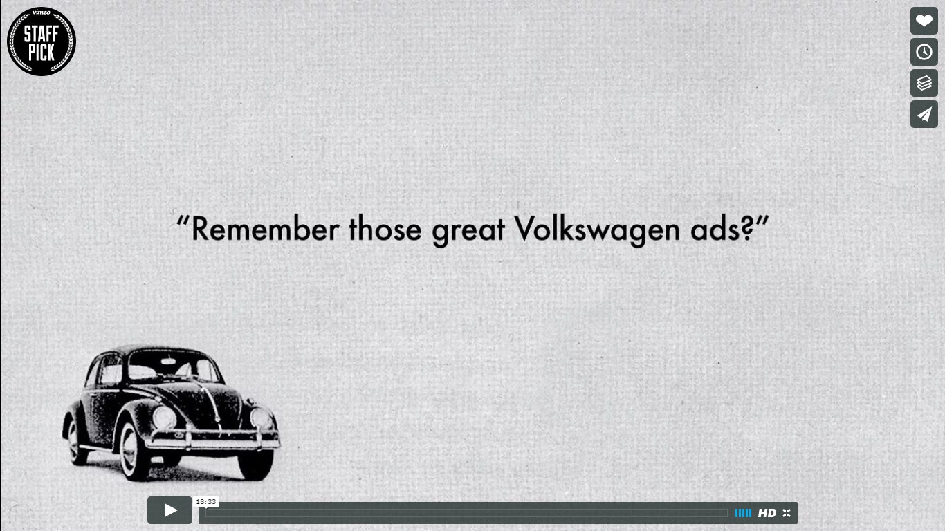 Video Remember those great Volkswagen ads?