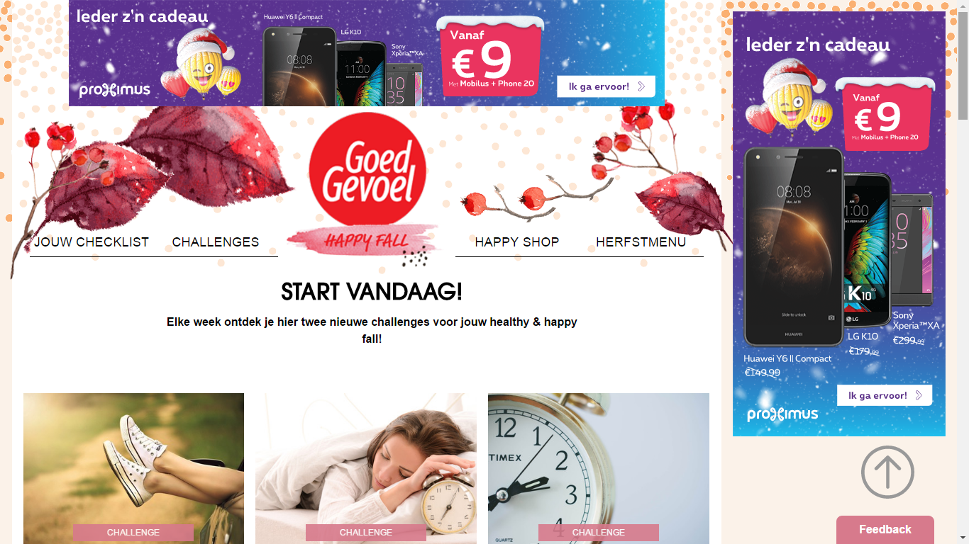 Happy Fall website - Goed Gevoel