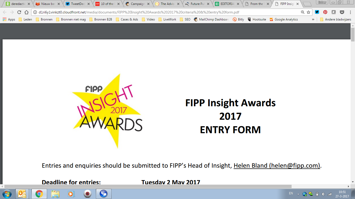 FIPP Insight Awards logo