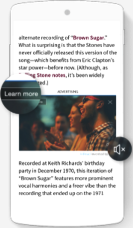 Native ad example mobile