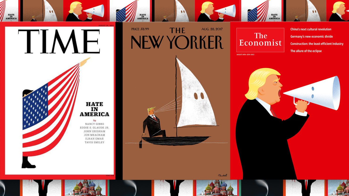Trump covers Time-The New Yorker-The Economist