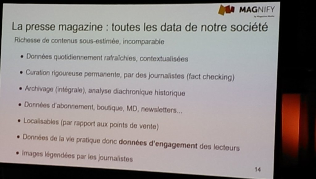 Francois Mariet: magazines offer data goldmine