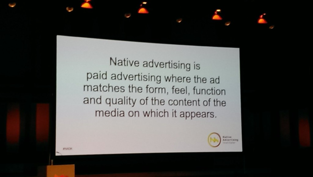 Jesper Laursen - definition native advertising