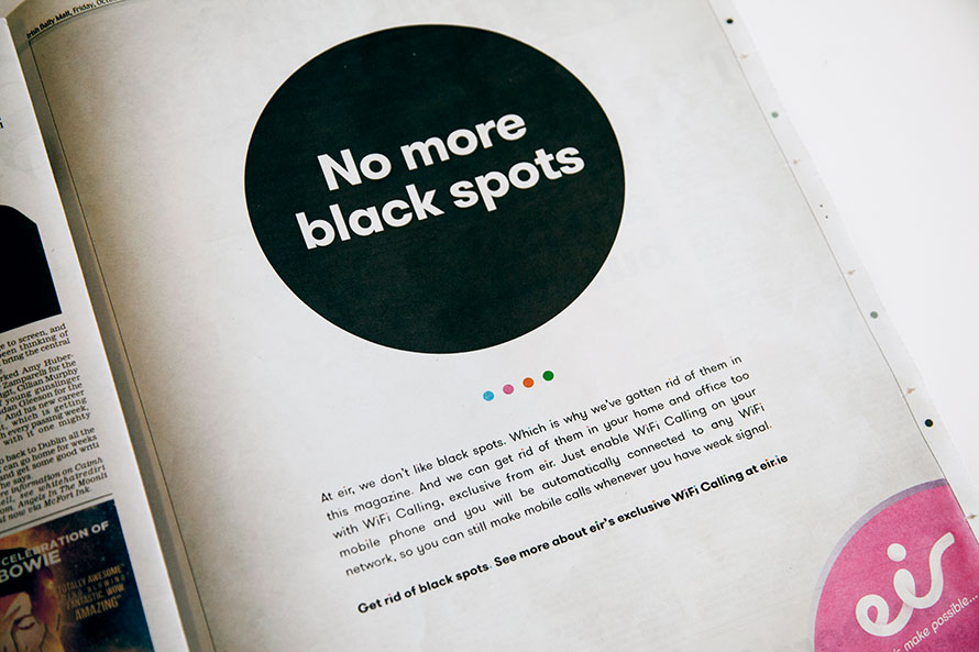 No more black spots - ad eir
