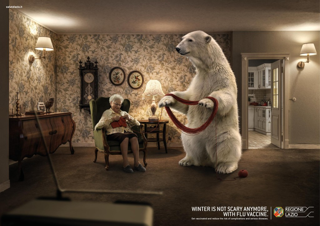 Scary Winter campaign by Regio Lazio