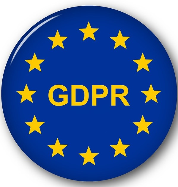 GDPR in European flag