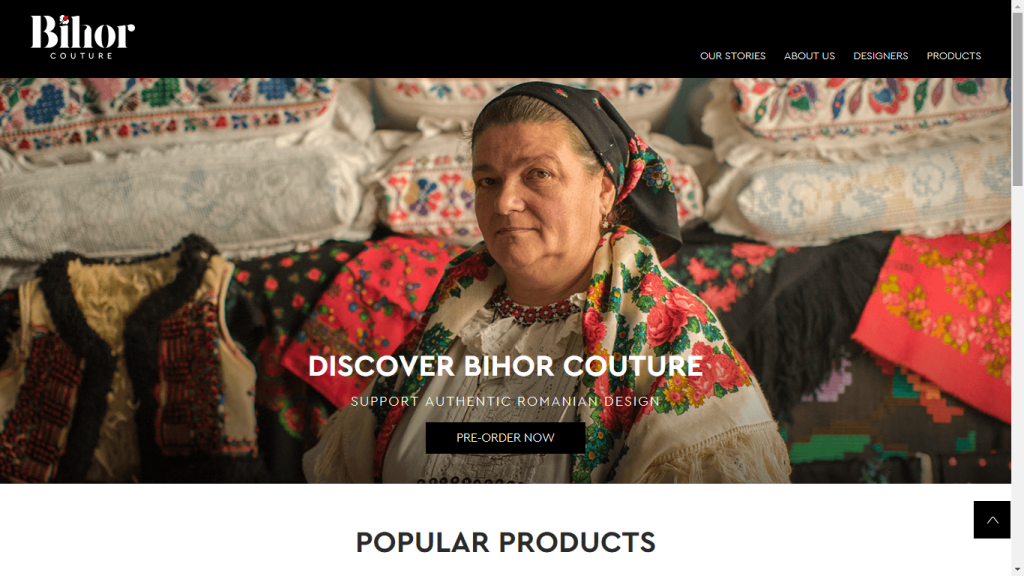 Bihor Couture website