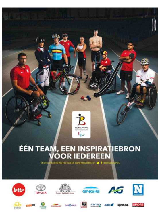 Paralympic Team Belgium advertentie