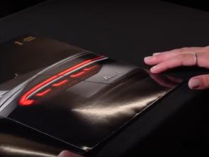 Audi 8 ad with OLED lights