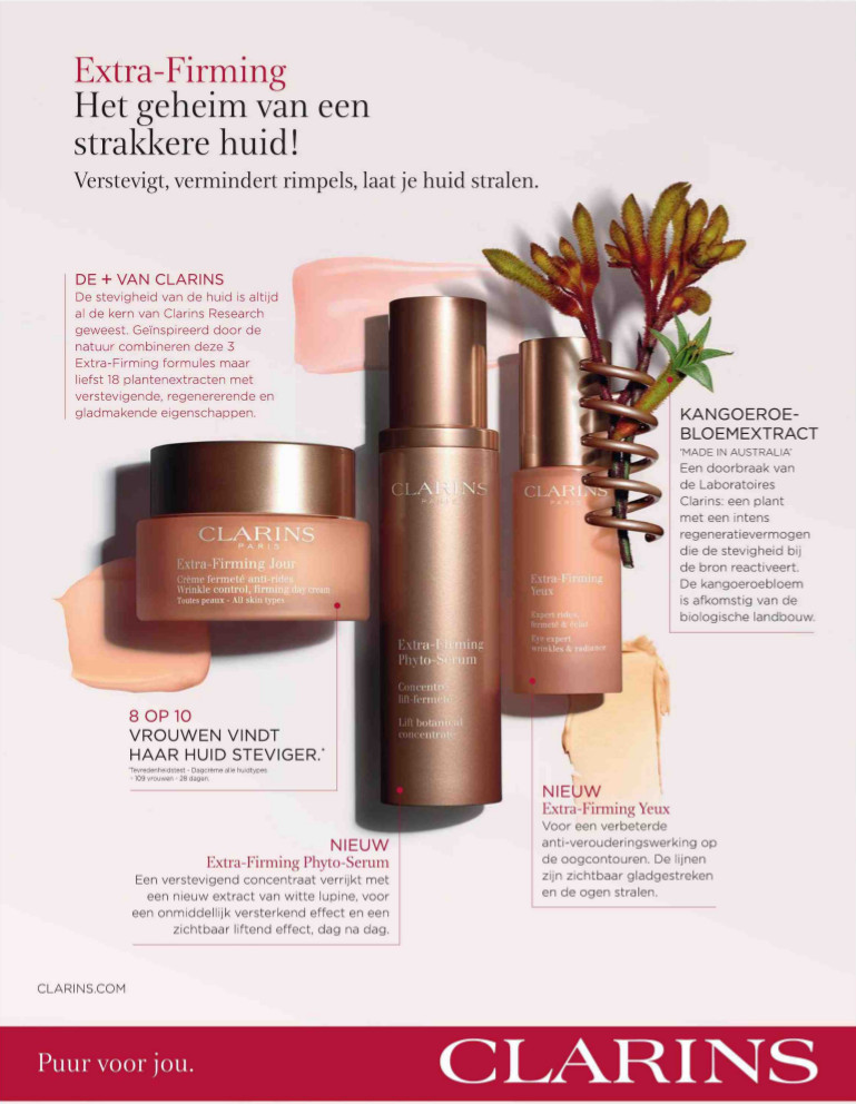 Clarins advertentie