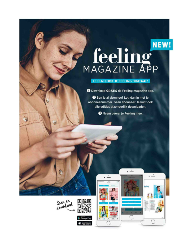 Feelin magazine app advertentie