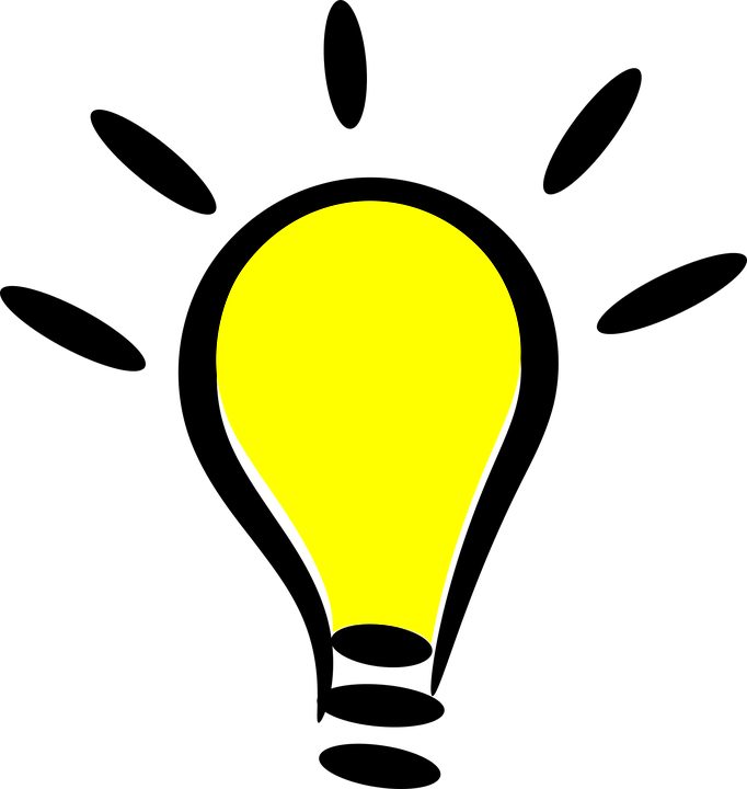 drawing of light bulb