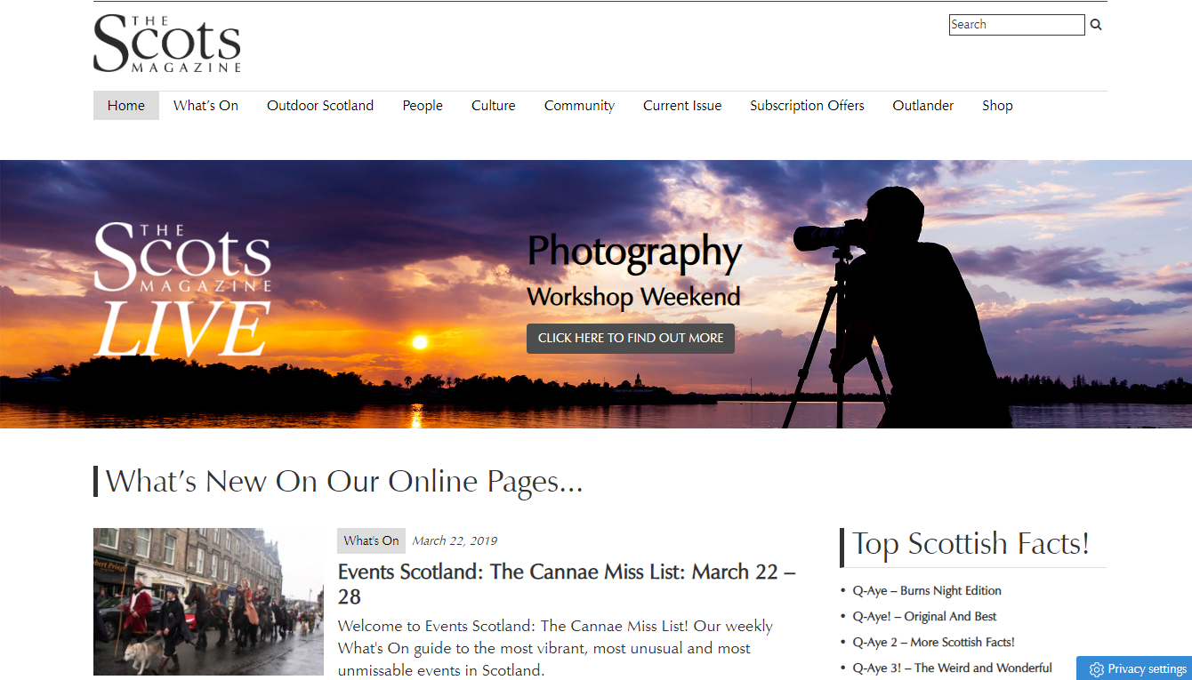 The Scots Magazine website