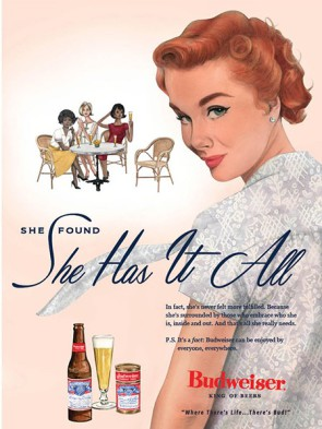 Budweiser 2019 She has it all ad