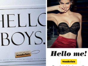 Hello boys vs Hello me Wonderbra