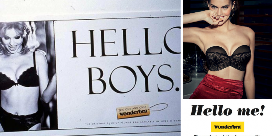Wonderbra campaign: then vs now