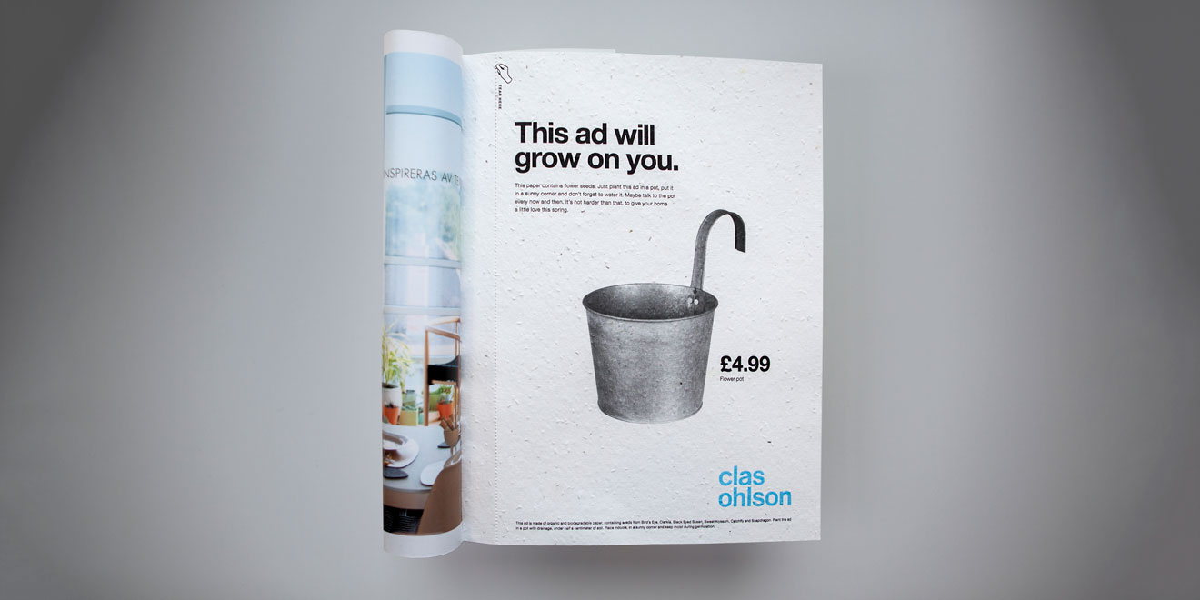 Clas Ohlson ad: this ad will grow on you
