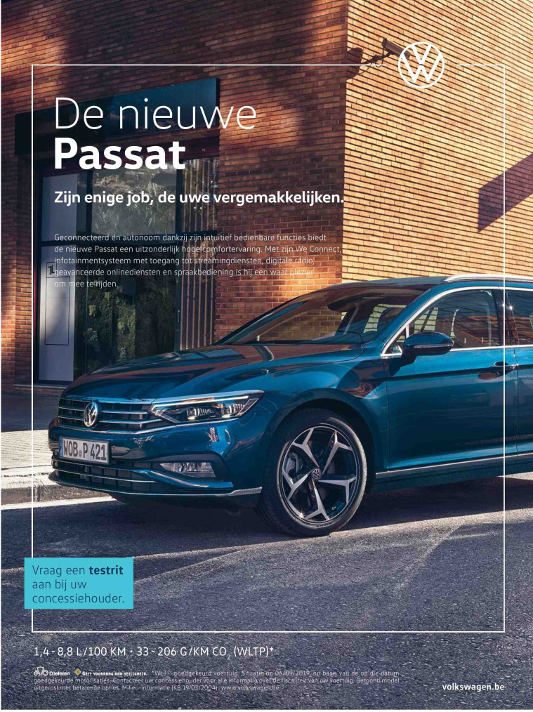 VW Passat advertentie Knack