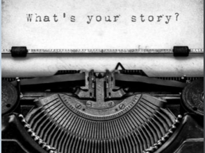 What's your story written on old typewriter