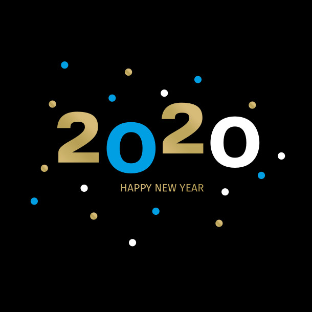 2020 New Year greeting card