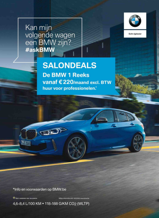 BMW serie 1 advertentie in Plus