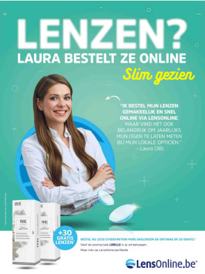 Advertentie LensOnline.be in Libelle