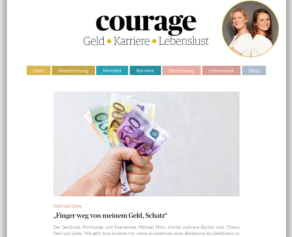 Courage magazine website