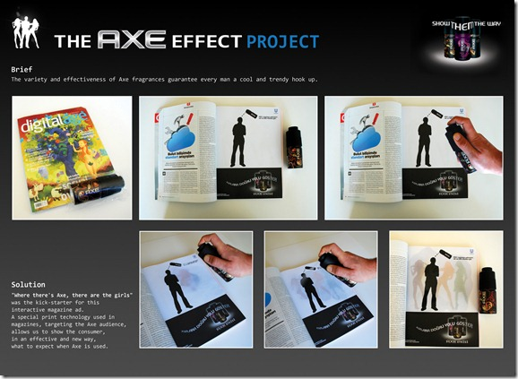 Axe campaign spray-on
