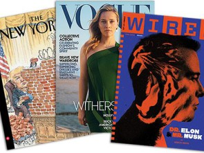 The New Yorker, Vogue, Wired covers