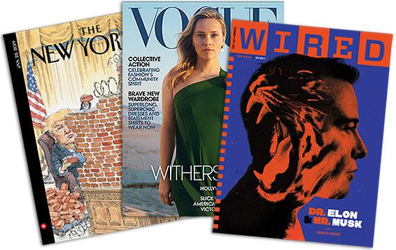 The New Yorker, Vogue and Wired covers