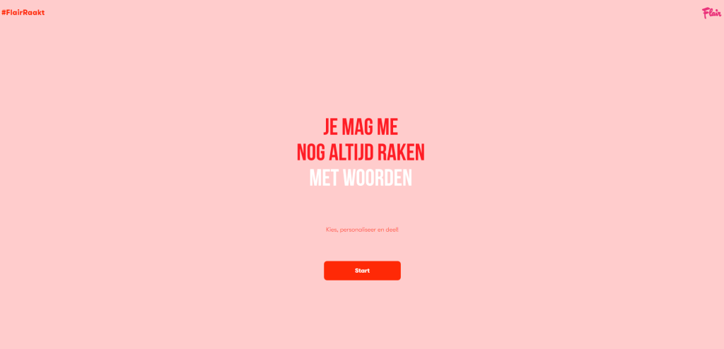 Flair raakt web page