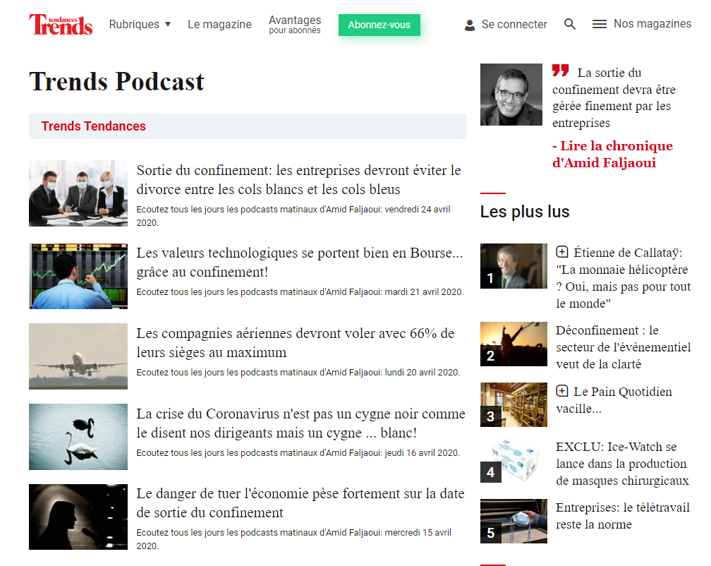 Trends tendances podcast