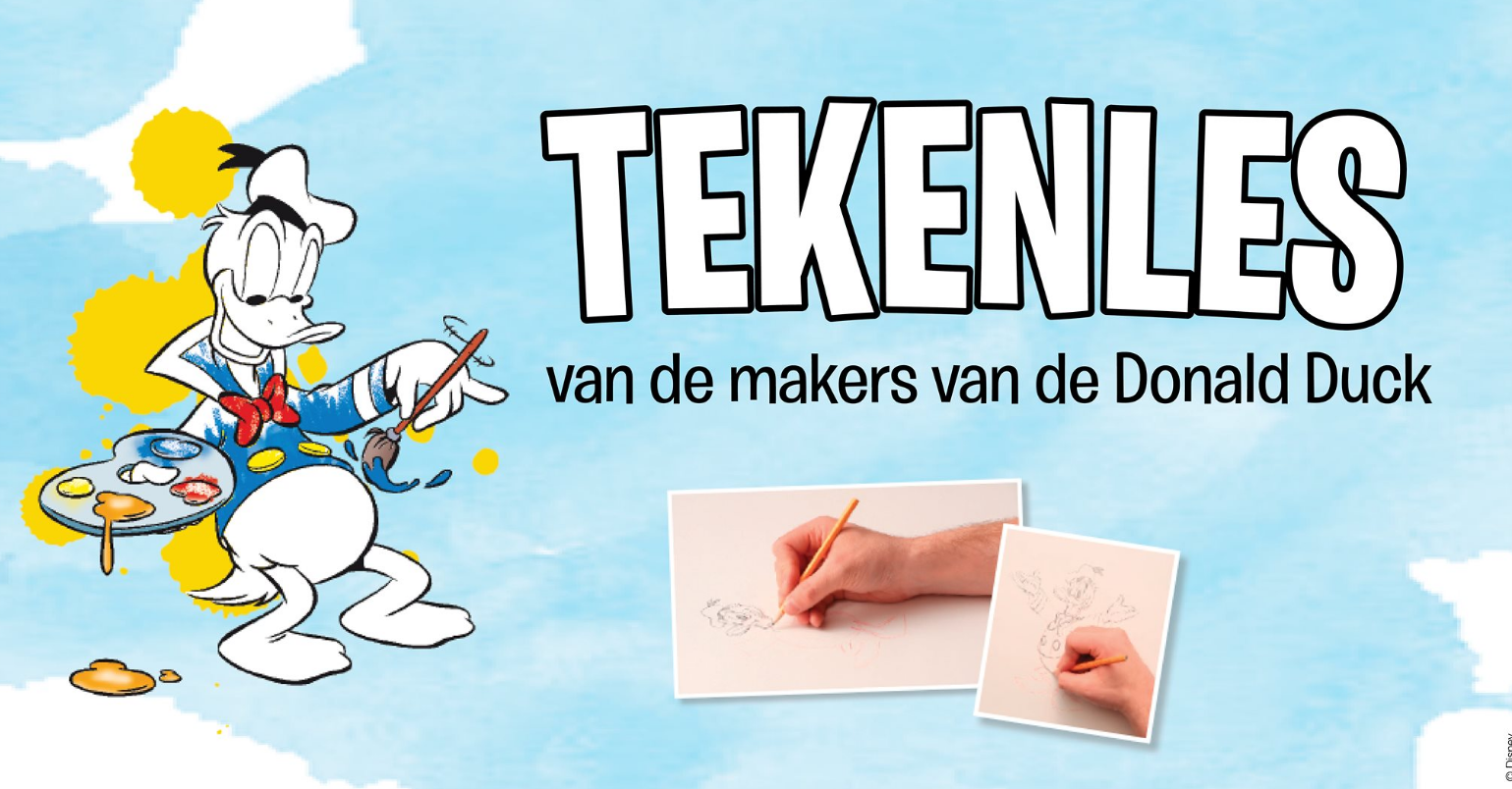 Donald Duck tekenles op Facebook