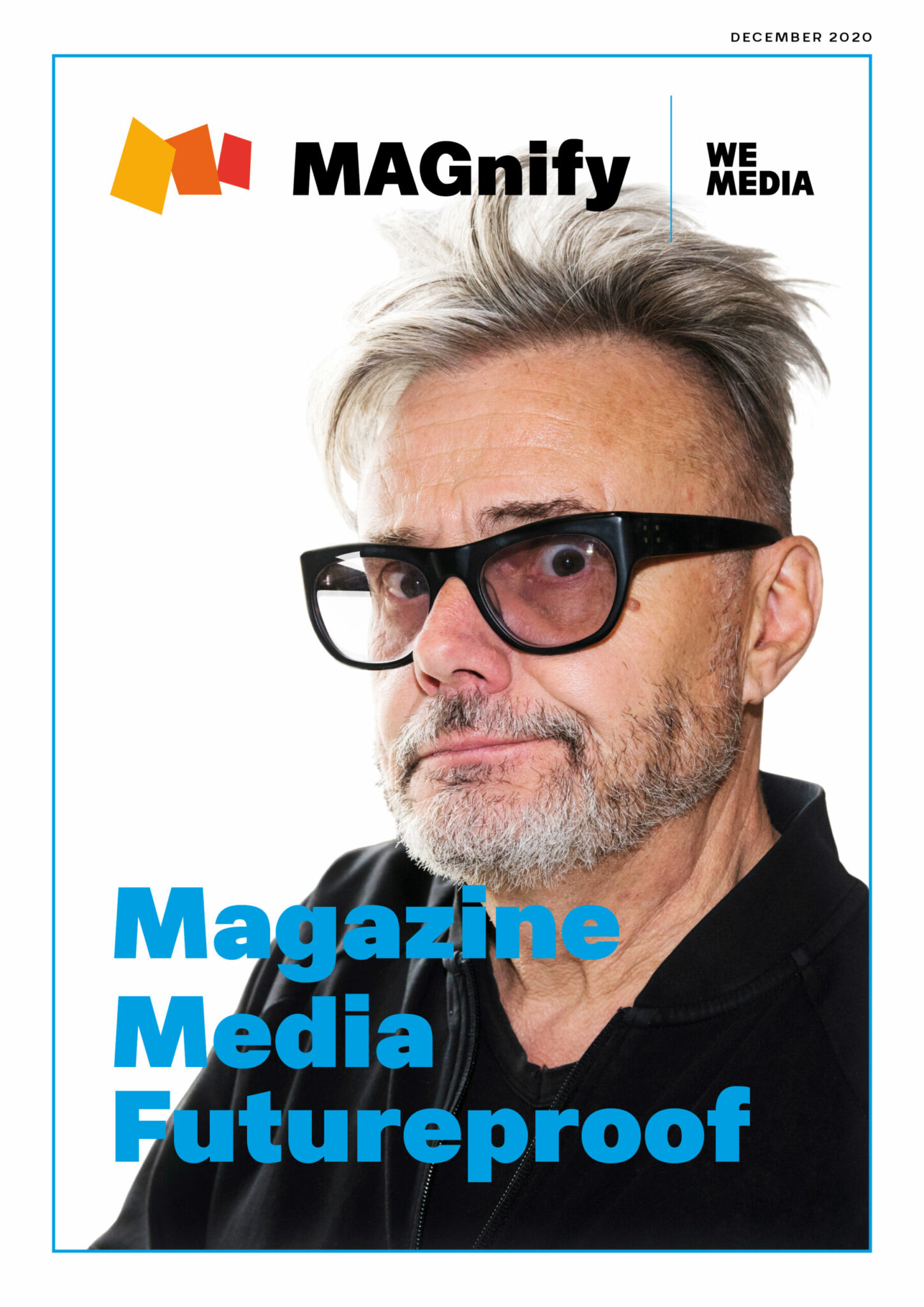 Cover Magazine Media MAGnify booklet showing Marcel Vanthilt