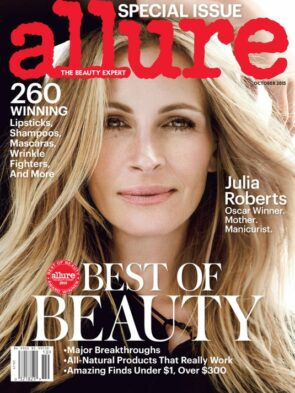 Allure Magazine cover with Julia Roberts