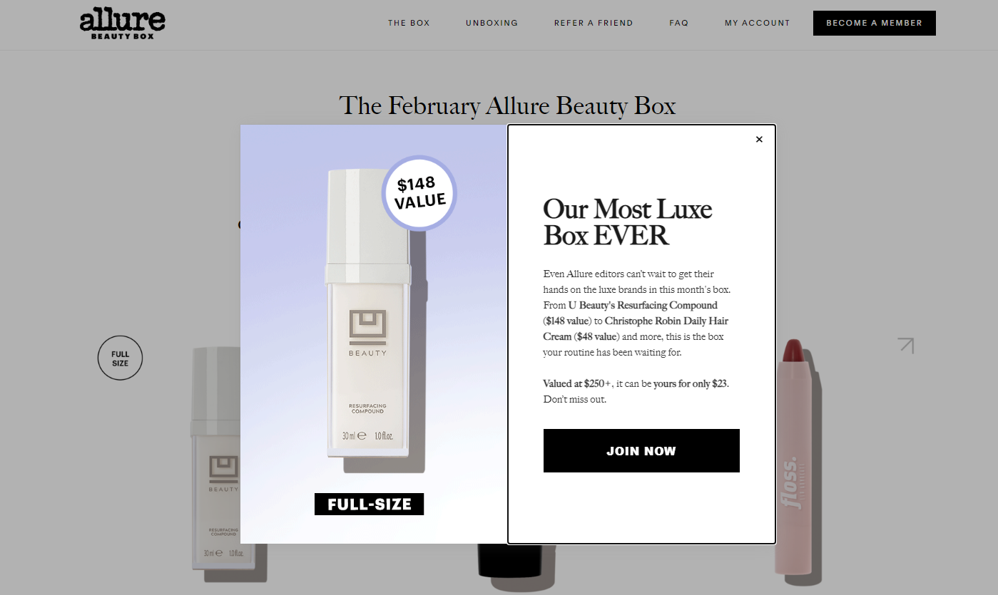 Allure Magazine Beauty Box February 2021